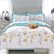 Pastoral Style 3D Bed Four Piece 100% Cotton Eco Active Stylish Luxury Child Bedding (For Bed 1.5m And 1.8m) , 4 , 1.5m
