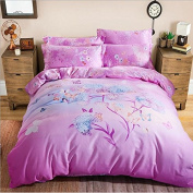 Pastoral Style 3D Bed Four Sets Of 100% Cotton Occupational Stressening Jacquard Bedding , 3 , 220*240