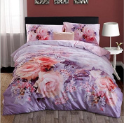 Pastoral Style 3D Bed Four Sets Of 100% Cotton Occupational Stressening Jacquard Bedding , 5 , 220*240
