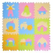 9 Pieces Of Puzzle/Waterproof Foam Mats Kids & Baby Foam Play Mats-07
