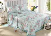 Printing Sheets Single Ice Silk Seats Three Sets Of Water Can Be Washed Summer Mats Bedding,U