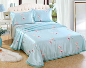 Can Be Washed Ice Mat Mat Bed Sheets Summer Mats Printed Fashion Mats Three Sets,D