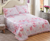 Washing Sheets Ice Silk Printing Mats Three Sets Of Bed Cover Mats,Y