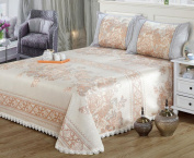 High - Grade Ice Silk Mat 6D Jacquard Bed Skirt Can Be Folded Sheets Mats Three - Piece Sets,D
