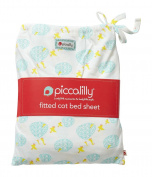 Piccalilly Organic Cotton Fitted Cot Bed Sheet in Puddle duck unisex print