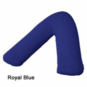 V Shaped Pillow Case Cover Only Back & Neck Support Orthopaedic/Pregnency/Nursing Pillow Case (Royal Blue) by MAS International Ltd