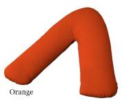 V Shaped Pillow Case Cover Only Back & Neck Support Orthopaedic/Pregnency/Nursing Pillow Case (Orange) by MAS International Ltd