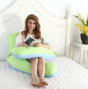 pengweiPure cotton embroidery removable pregnant woman pillow U-shaped pillow waist pillow