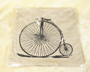 YFFS 4 Sets Of Bicycles Cotton And Linen Pillowcases Pillowcases Do Not Contain The Core,42*42cm
