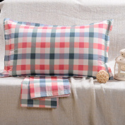 YFFS 4 Pieces Of Cotton Pillowcases Single Cotton Twill Active Printing Pillow Sets Of Cotton Pure Colour Pillowcases,H