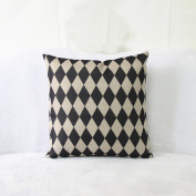 YFFS 2 Pieces Of Black And White Geometric Linen Pillowcases Simple Modern Sofa Pillow Bedside Cushions Waist Pillow Without Core,A