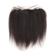 Rosabeauty Lace Frontal Brazilian Remy Hair Kinky Straight Human Hair Bleached Knots with Natural Hairline