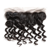 Rosabeauty Loose Wave 33cm x 10cm Lace Frontal Brazilian Remy Hair With Bleached Knots 100% Human Hair