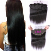 G-EASY Lace Frontal Straight Closure Human Hair Peruvian Frontal Virgin Hair Piece Free Part Ear to Ear 33cm x 15cm