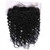 G-EASY Brazilian Frontal Deep Wave Full Lace Closure with Baby Hair 13x 6 Frontal Ear to Ear Virgin Human Hair