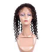 360 Frontal Lace Closure 100% Unprocessed Brazilian Virgin Remy human Hair Deep Wave
