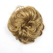 Wigsforyou Women Synthetic Wavy Curly Dish Hair Bun Drawstring Donut Roller Chignon Wig