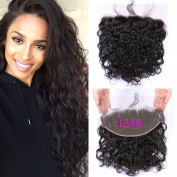 G-EASY Lace Frontal Closure Ear to Ear Water Wave Peruvian Hair 13x 6 Virgin Human Hair Free Part with Baby Hair