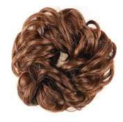 Wigsforyou Ladies Scrunchie Chignon Hairpiece Curly Fake Ponytail Extensions Messy Hair