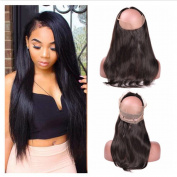 Tony Beauty Hair Silky Straight Ear to Ear 360 Band Lace Frontal Closure With Baby Hair Brazilian Virgin Human Hair Full Frontals Pre Plucked 360 Lace Closure 20cm - 60cm