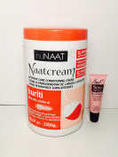 "Nunaat Naat Cream Intensive Care Conditioning Cream Buriti 35.27 Oz ""Free Starry Lipgloss 10 Ml"""