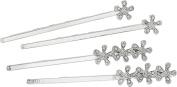 LAUREN Ralph Lauren Women's Crystal Flower Barrette Silver/Crystal Barrette