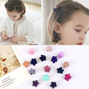 Healthcom 50 Pcs Mini Cute Hair Barrettes Snap Hair Clips No Slip Wrapped Hair Clip Barrettes for Girls Toddlers Kids Accessories