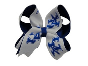 Kentucky Wildcats NCAA Two Tone Hair Bow with Barrette