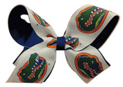 Florida Gators NCAA Two Tone Hair Bow with Barrette