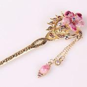 Vintage Chinese Women's Crystal Flower Lavender Hair Stick, Bridal Hair, Wedding Hair, Bride Hair Jewellery