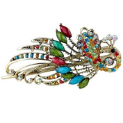 1 Pcs Women Retro Peacock Style Hair Clips Rhinestone Hairpins Beauty Tools by Team-Management