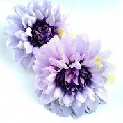 Pastel Purple Lavender Hair Flower Clips - Set of Two Hair Accessories
