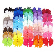 Healthcom 20 Pcs Baby Girl Hair Accessories Hair Clips Hair Barrettes Grosgrain Ribbon Big Size Boutique Hair Bows