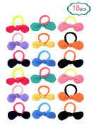 TS Cute Girls Flower Hair Tie Bands Ropes Ponytail Holder