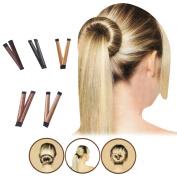Jiaqee 5pcs Bun Maker DIY Women Girls Hair Fold Wrap Snap Bun Making Styling French Twist Donut Hairstyle Tools