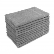 for Altima Plus Bleach Safe Salon Towels, Dove Grey, Pack of 12