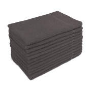 for Altima Plus Bleach Safe Salon Towels, Charcoal Grey, Pack of 12