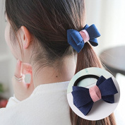 J-Beauty Girl Women Colourful Pink Red Blue Flower Bowknot Pearl Hair Clip Pin