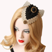Sexy Mesh Gauze Small Top Hat Headdress Ribbon Bow Vintage Aristocratic Ladies Hair Clip Hairpins Black Hair Accessrioes Sexy Headwear Wedding Party