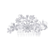 Frcolor Hair Comb Flower Style Bridal Wedding Rhinestone Hair Accessories Jewellery