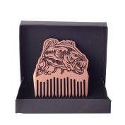 Beard Gains Bass Fishing Beard Comb - Handmade, American Cedar - Extremely Durable, Lightweight & Superior Quality