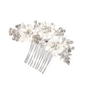 Feyarl Hair Comb Handmade Rhinestone Crystal Hair Clip for Wedding Bridal hair Decor