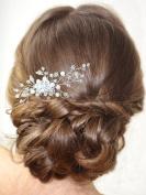 Bridalvenus Bridal Hair Combs, Wedding Silver Hair Comb for Bride and Bridesmaid
