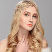 Ammei Wedding Headpiece Hairbands with Freshwater Pearls and Ribbons Bridal Hair Accessories