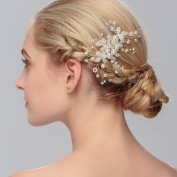 Ammei Wedding Accessories Hair Side Combs with Beads and Rhinestones for Bride