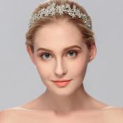Ammei Luxury Bridal Tiara Crown with Rhinestone Crystal