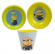 Despicable Me Minions Children's Collectible Meal Set - Reusable Plate, Bowl and Cup