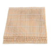 BQLZR Light Yellow 24x24cm Square Bamboo Sushi Rolling Mat Roller Maker DIY Food Tool Pack of 5
