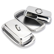 Butter Dish, Covered Stainless Steel French Butter Dish with Handle Lid, Silver