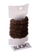 Luqx Terry - Braided Rubber Teddy Pack of 5 | Brown Hair Rubber Bands for Girls and Women